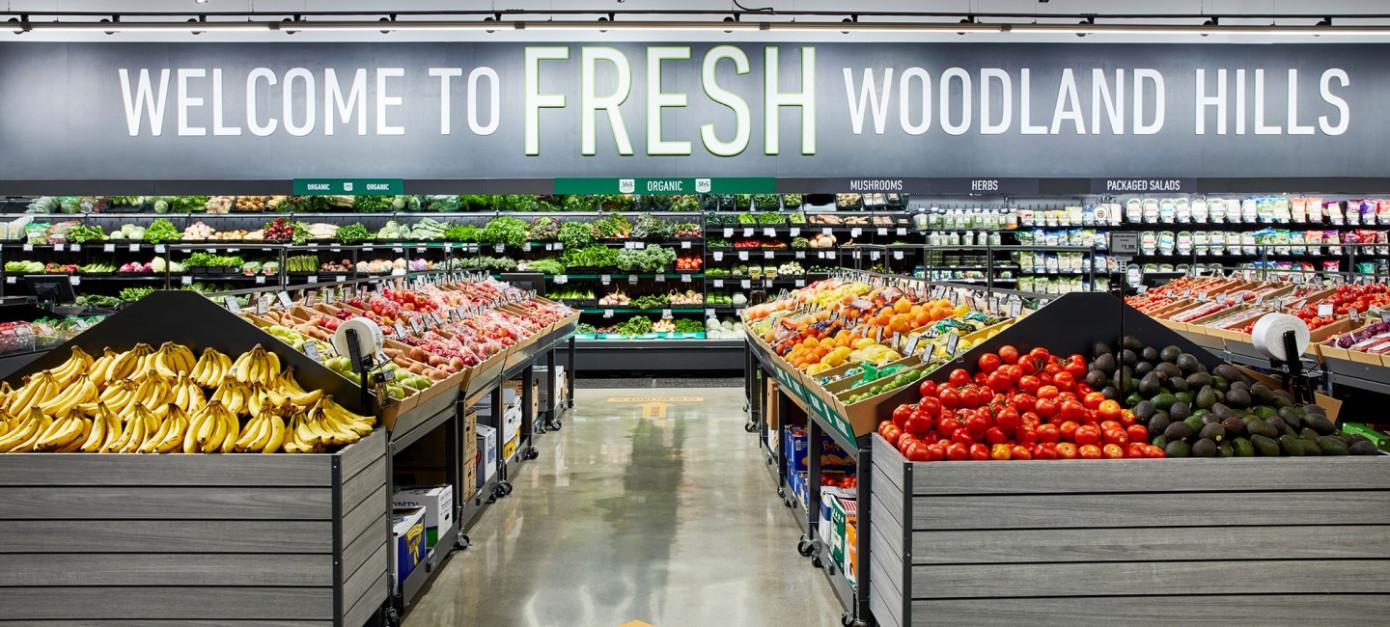 Amazon открывает свой первый продуктовый магазин Amazon Fresh в Лос-Анджелесе